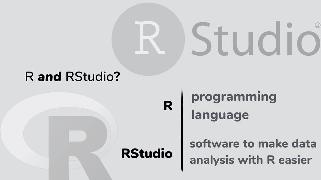 RStudio programming language R and RStudio? pro...