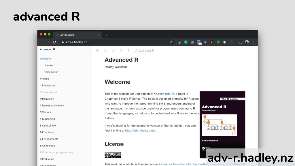 advanced R adv-r.hadley.nz