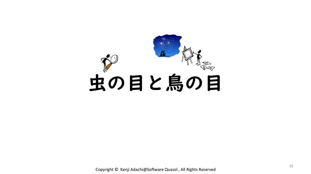 虫の目と鳥の目 19 Copyright © Kenji Adachi@Software Qu...