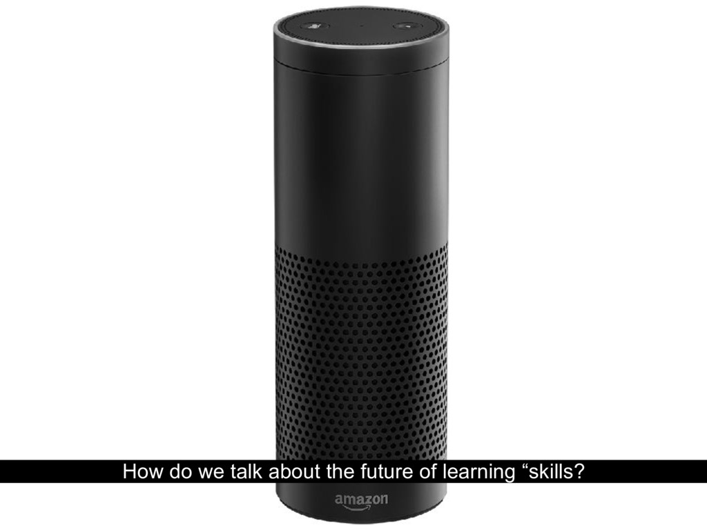 """How do we talk about the future of learning """"sk..."""