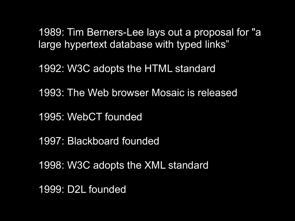"""1989: Tim Berners-Lee lays out a proposal for """"..."""