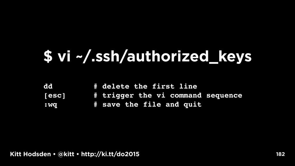 Kitt Hodsden • @kitt • http://ki.tt/do2015 182 ...