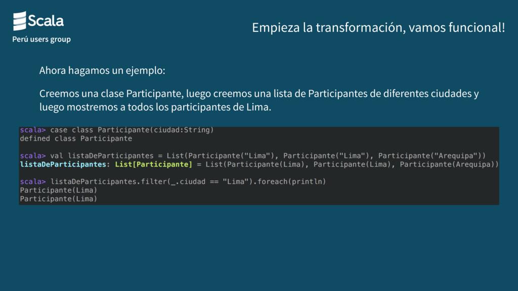 Perú users group Empieza la transformación, vam...