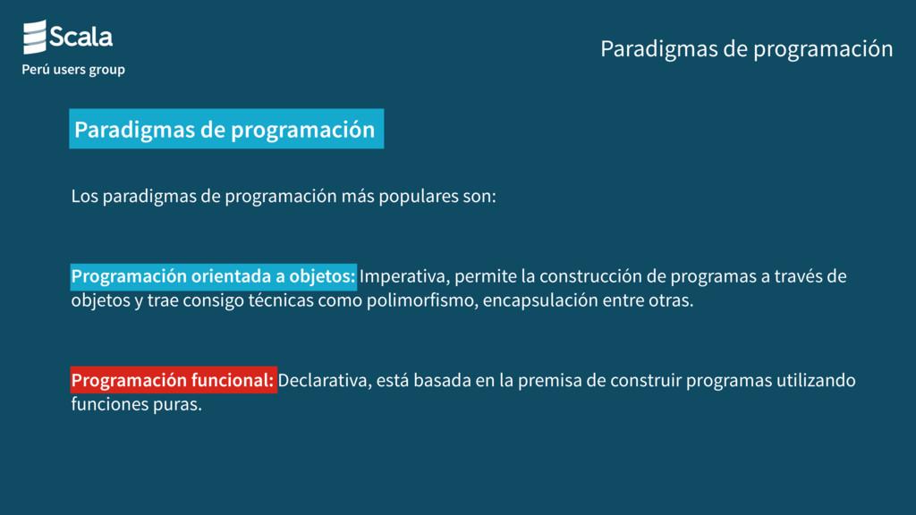 Perú users group Los paradigmas de programación...