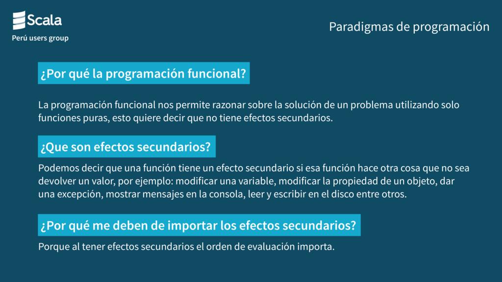 Perú users group Paradigmas de programación La ...