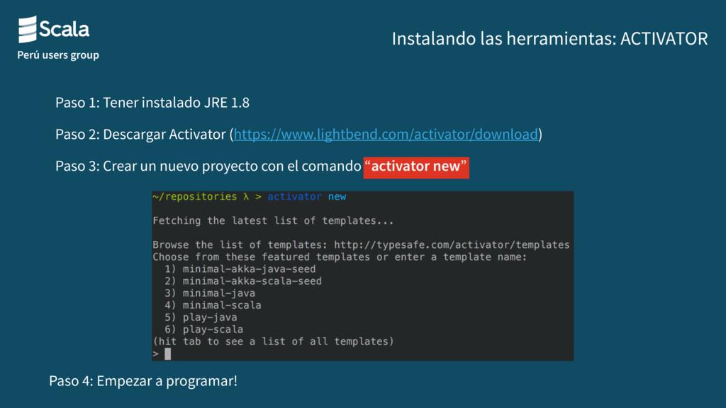 Perú users group Instalando las herramientas: A...