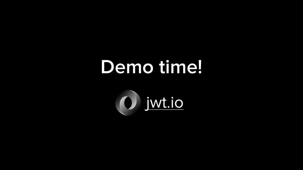 Demo time! jwt.io