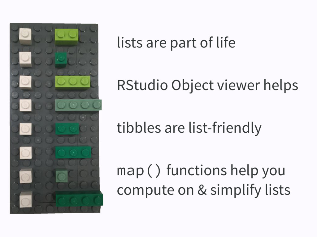 lists are part of life RStudio Object viewer he...