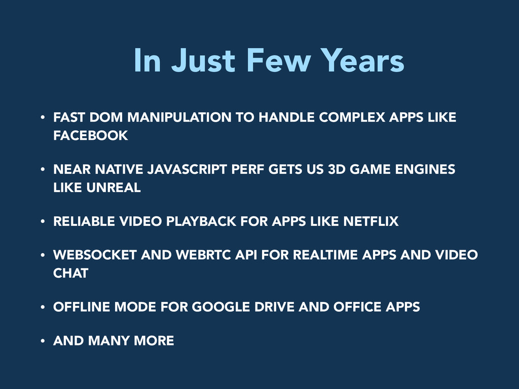 In Just Few Years • FAST DOM MANIPULATION TO HA...