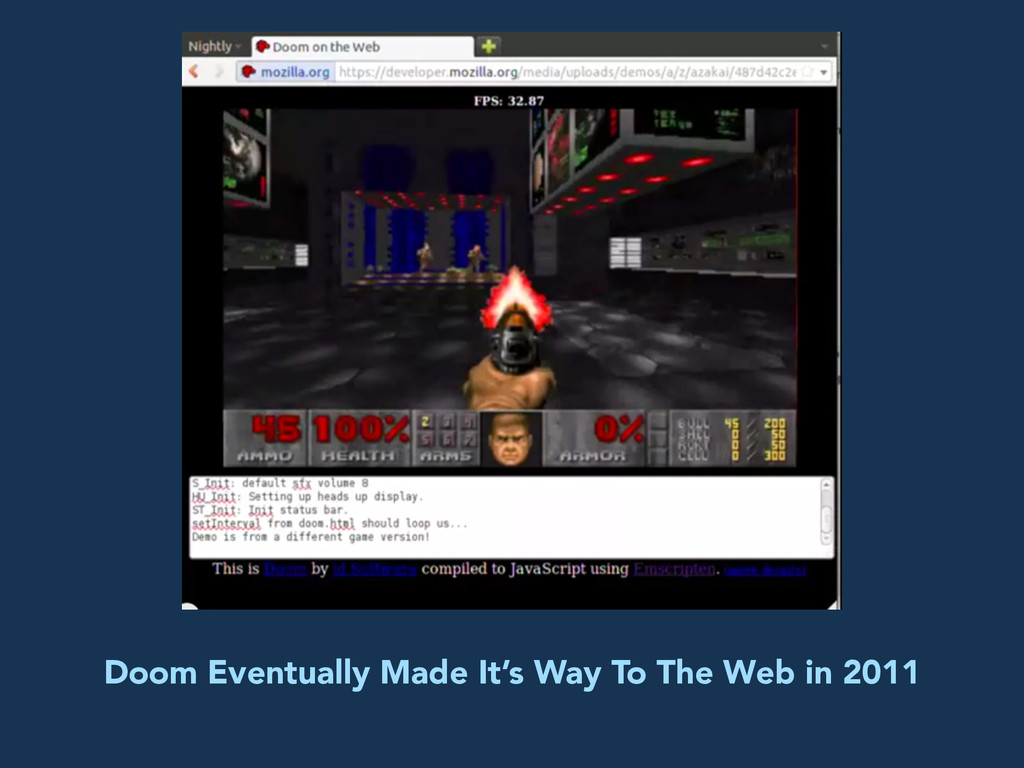 Doom Eventually Made It's Way To The Web in 2011