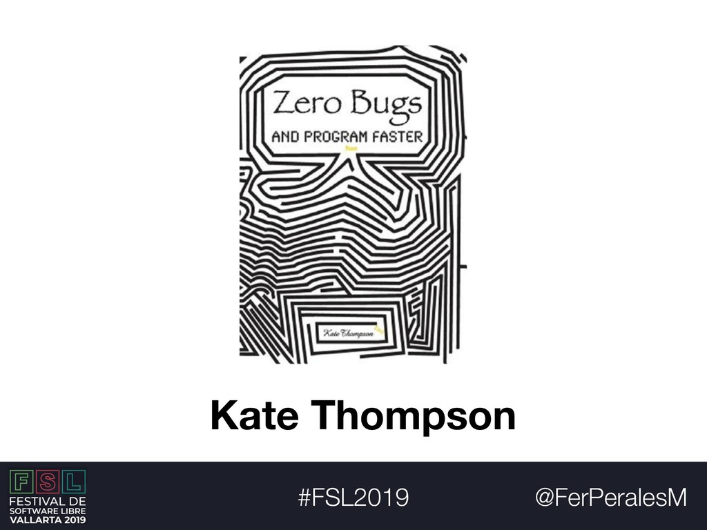 @FerPeralesM #FSL2019 Kate Thompson