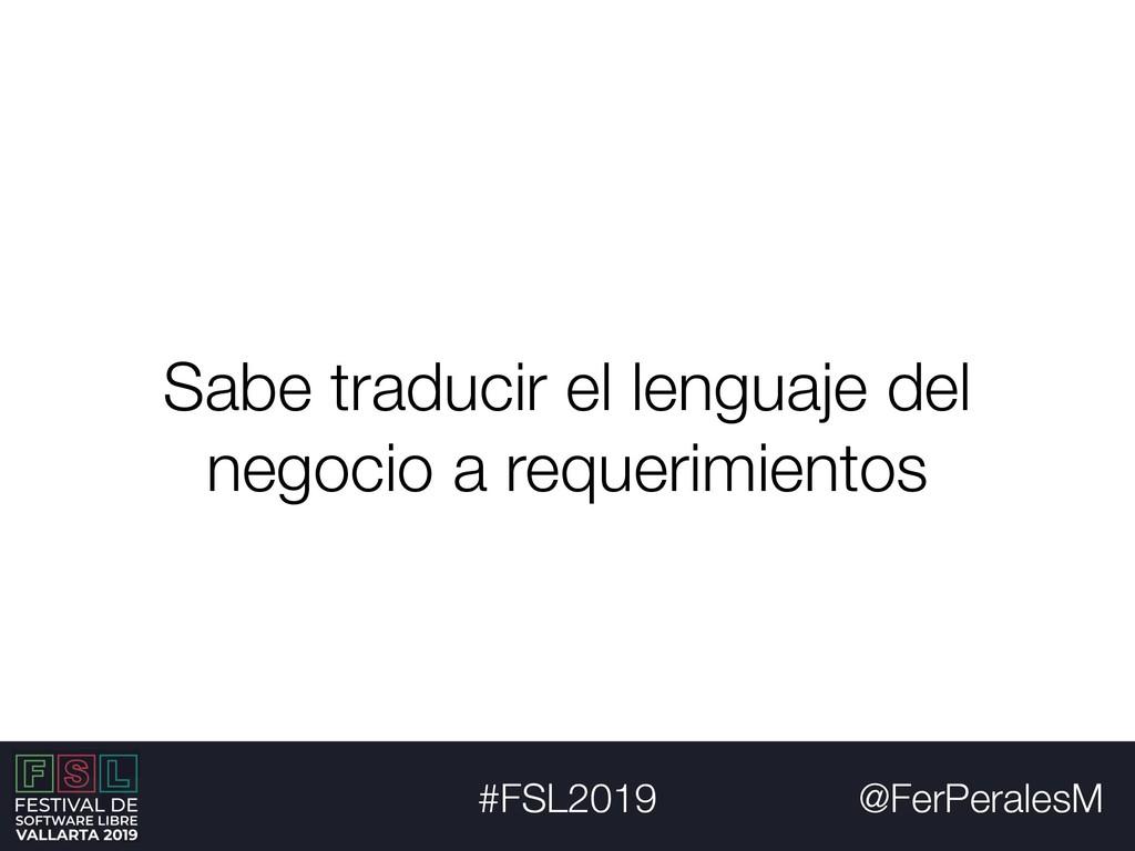 @FerPeralesM #FSL2019 Sabe traducir el lenguaje...