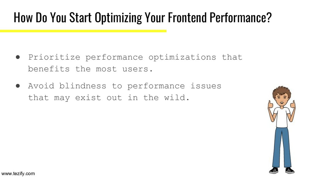 How Do You Start Optimizing Your Frontend Perfo...