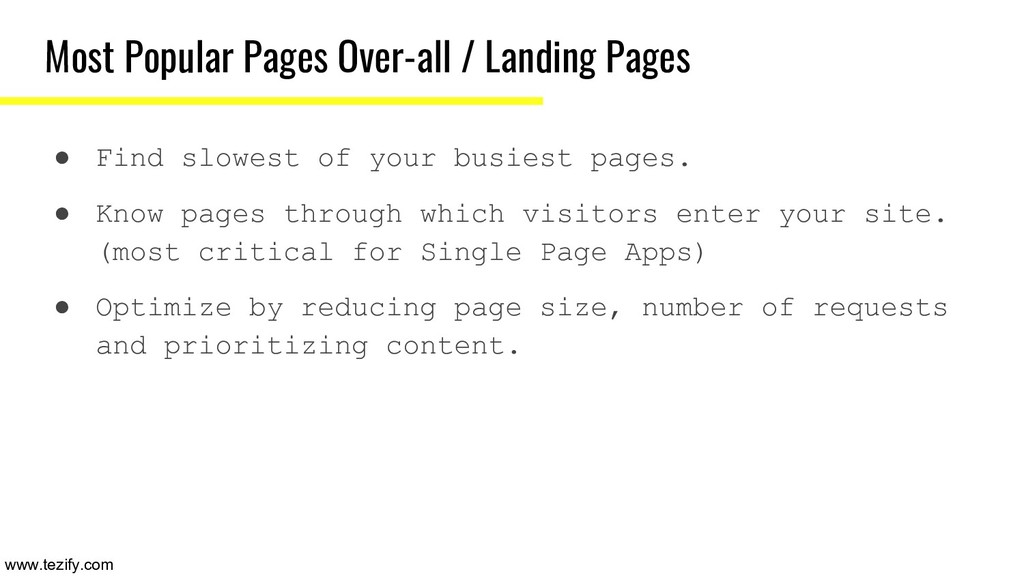 Most Popular Pages Over-all / Landing Pages ● F...