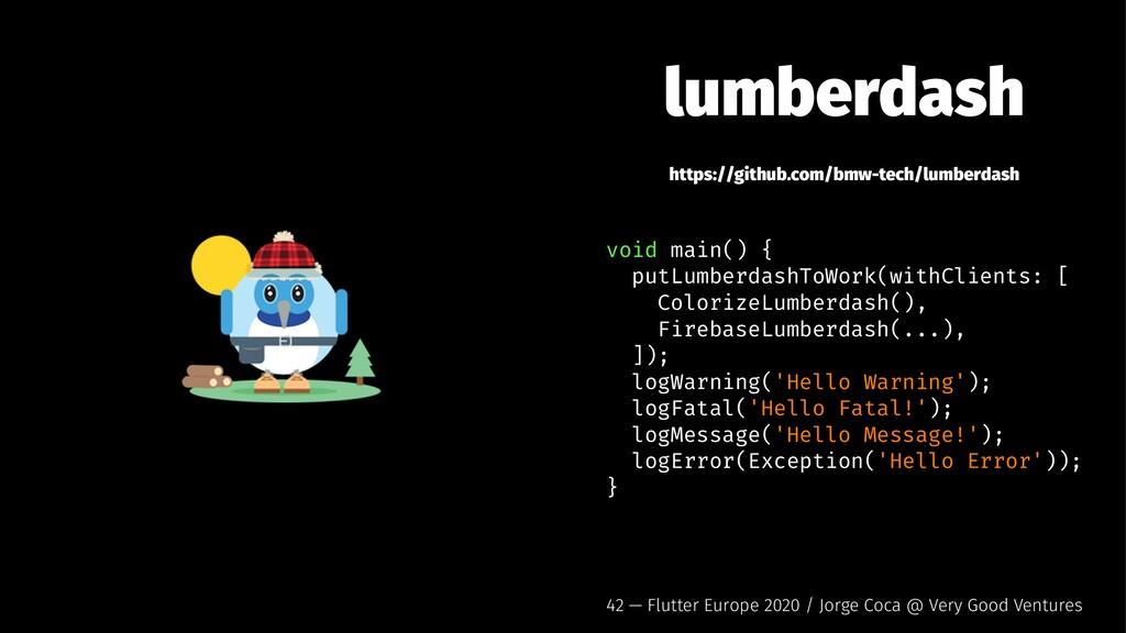 lumberdash https://github.com/bmw-tech/lumberda...