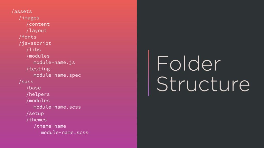 Folder Structure /assets /images /content /layo...