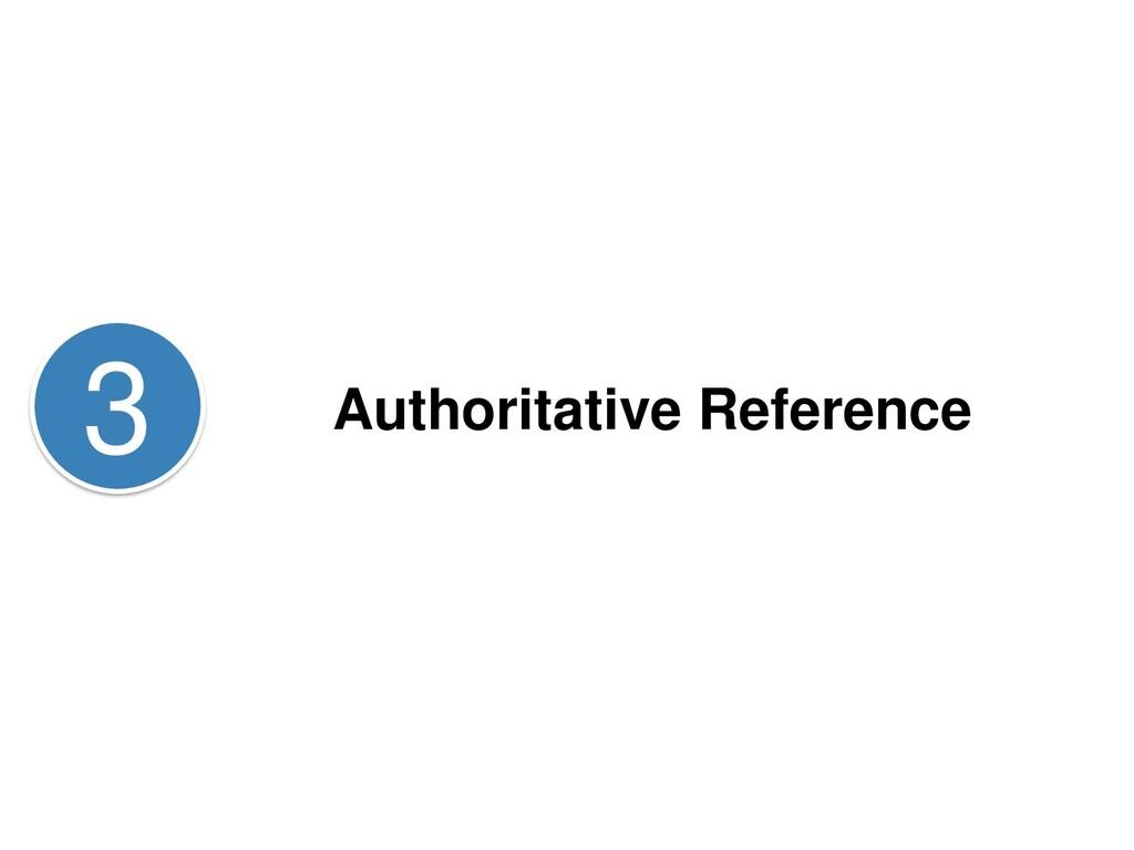 Authoritative Reference 3