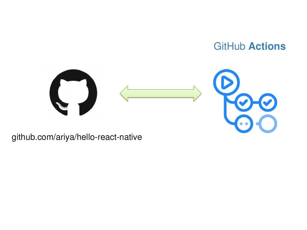 GitHub Actions github.com/ariya/hello-react-nat...