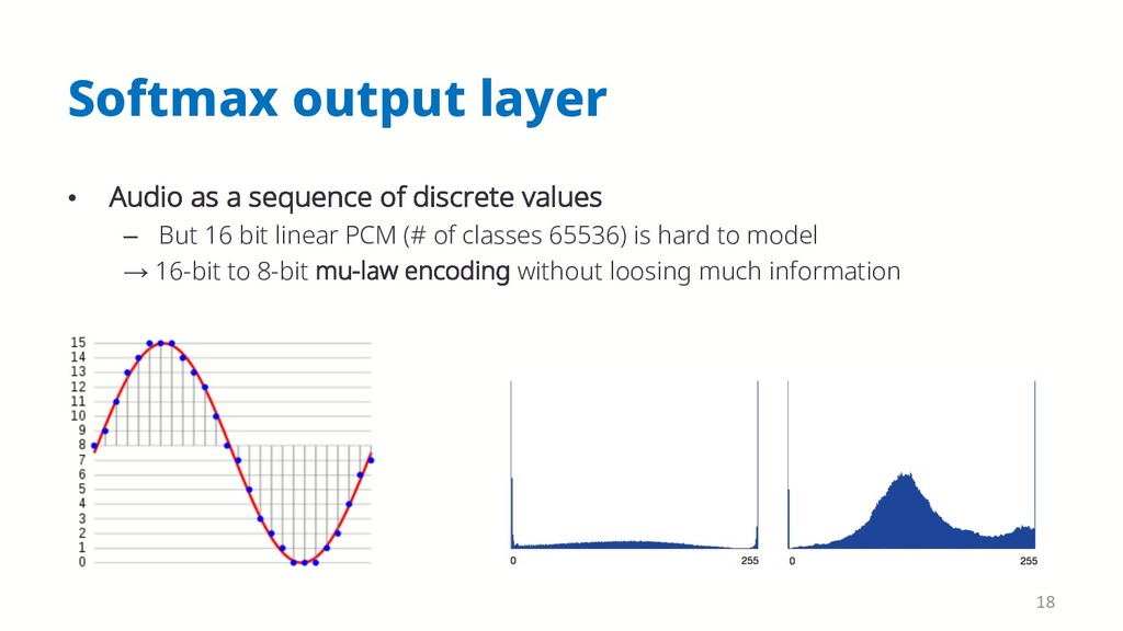 Softmax output layer • Audio as a sequence of d...
