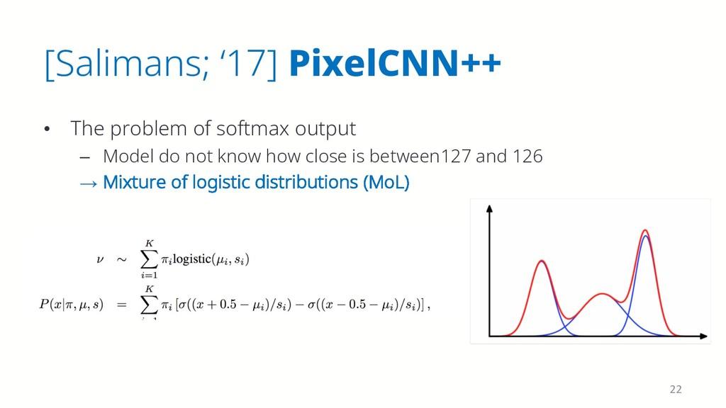 [Salimans; '17] PixelCNN++ • The problem of sof...