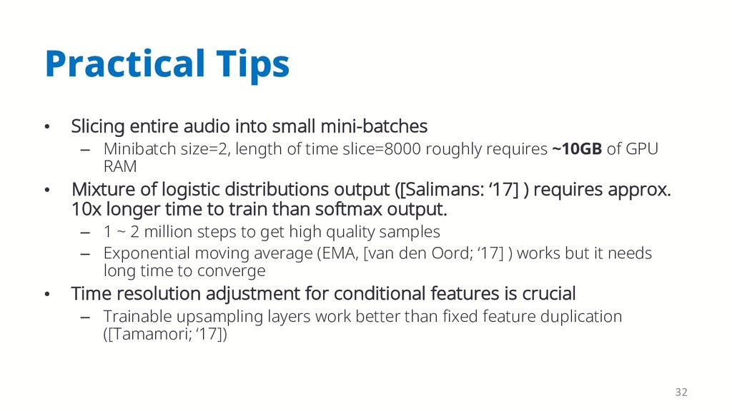 Practical Tips • Slicing entire audio into smal...