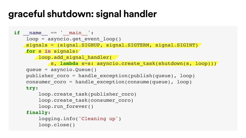 graceful shutdown: signal handler if __name__ =...