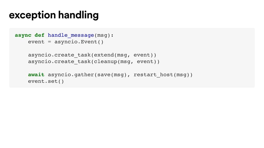 async def handle_message(msg): event = asyncio....