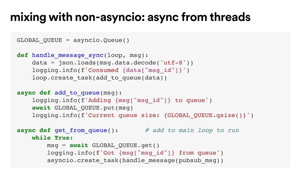 GLOBAL_QUEUE = asyncio.Queue() def handle_messa...