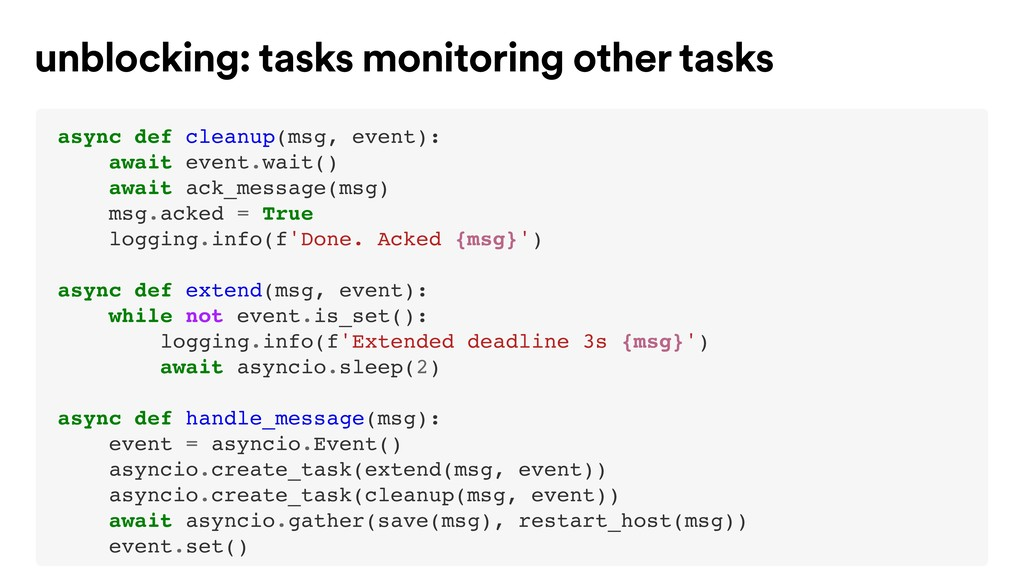 async def cleanup(msg, event): await event.wait...