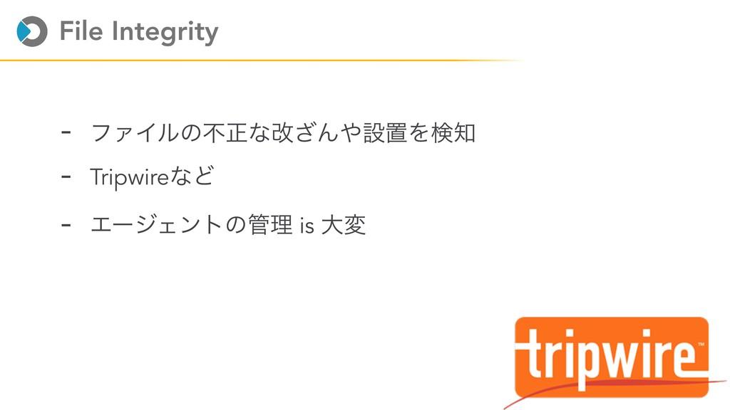 File Integrity - ϑΝΠϧͷෆਖ਼ͳվ͟ΜઃஔΛݕ - TripwireͳͲ...