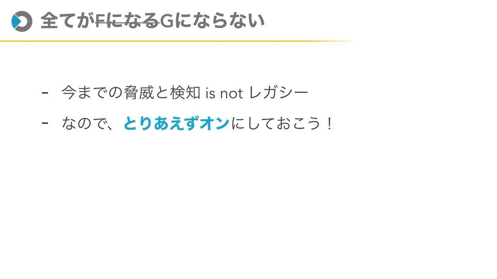 શ͕ͯFʹͳΔGʹͳΒͳ͍ - ࠓ·ͰͷڴҖͱݕ is not ϨΨγʔ - ͳͷͰɺͱΓ͋...