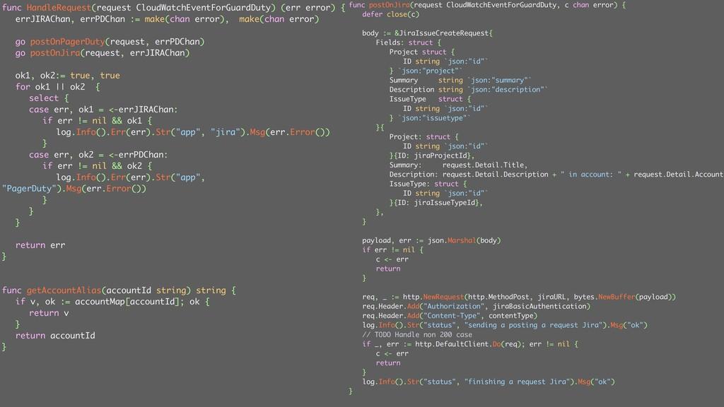 ݟग़͠ func postOnJira(request CloudWatchEventForG...