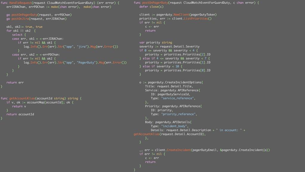 ݟग़͠ func HandleRequest(request CloudWatchEventF...