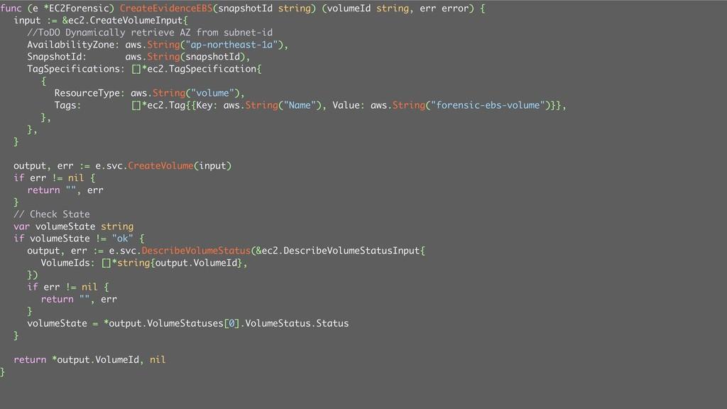 ݟग़͠ func (e *EC2Forensic) CreateEvidenceEBS(sna...