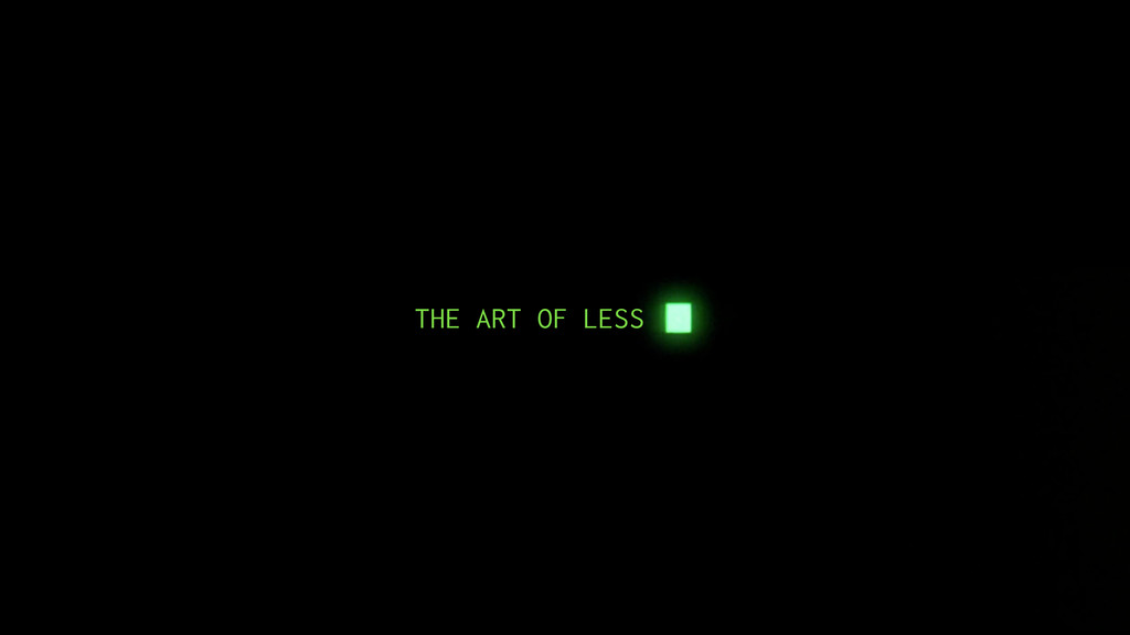THE ART OF LESS