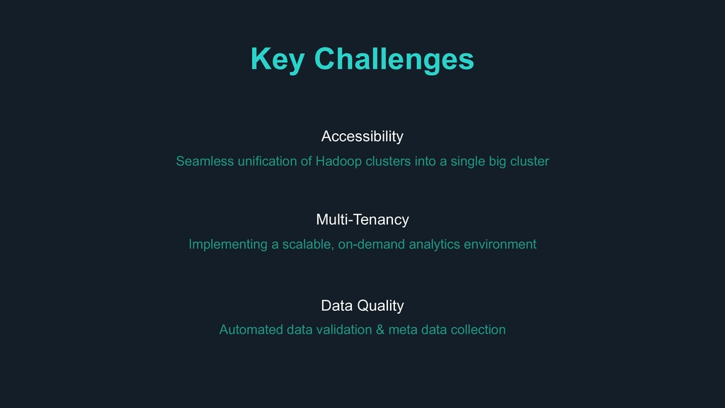 Implementing a scalable, on-demand analytics en...