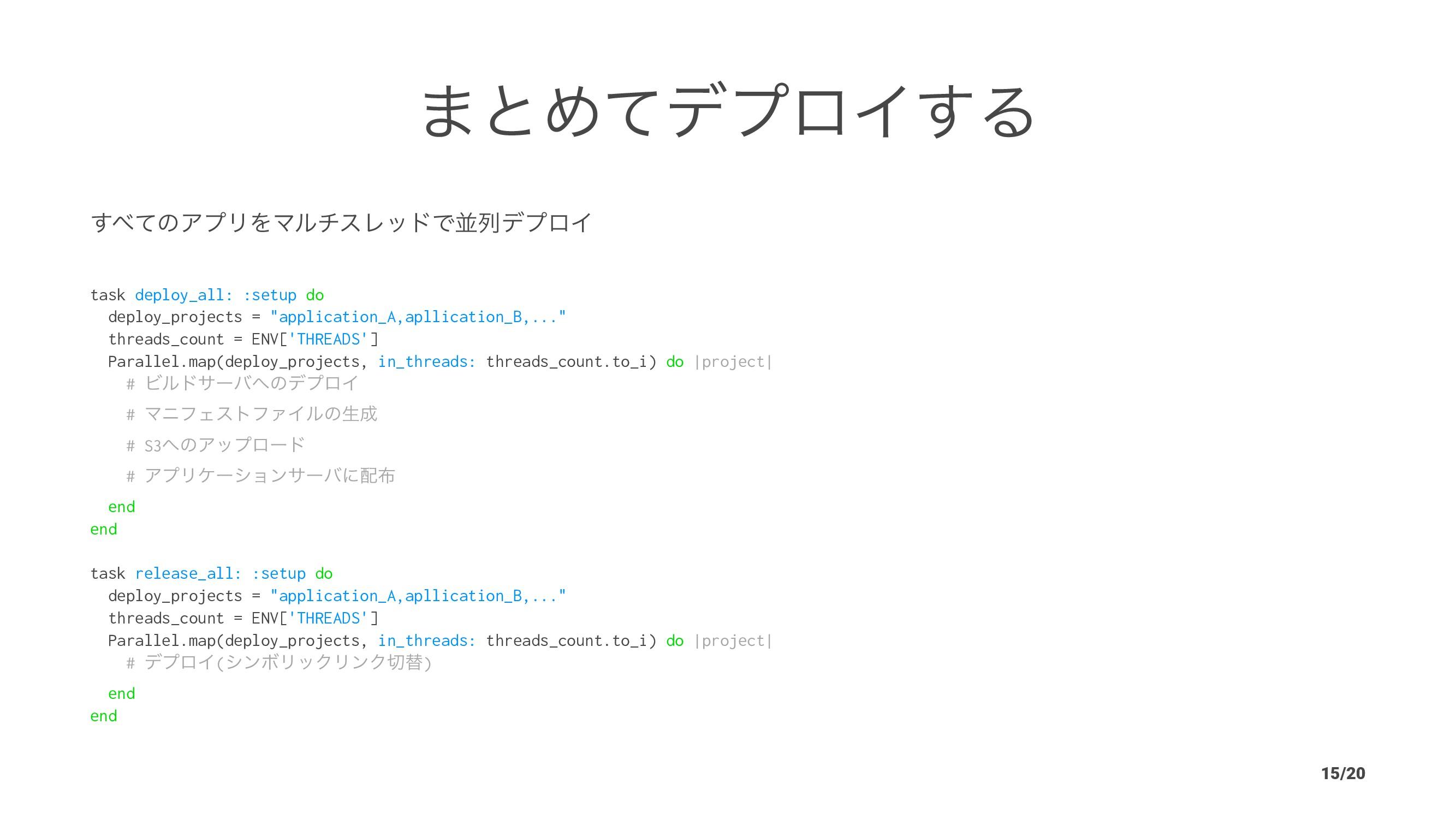 ·ͱΊͯσϓϩΠ͢Δ ͯ͢ͷΞϓϦΛϚϧνεϨουͰฒྻσϓϩΠ task deploy_a...