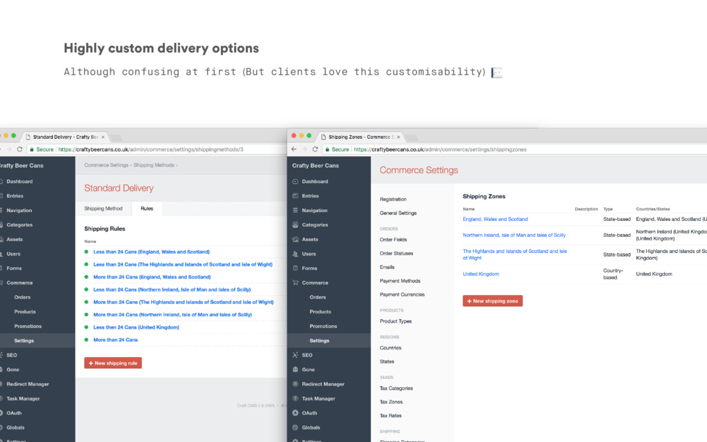 Highly custom delivery options Although confusi...