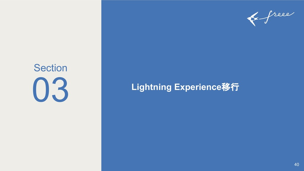 03 Lightning Experience移行 40 Section