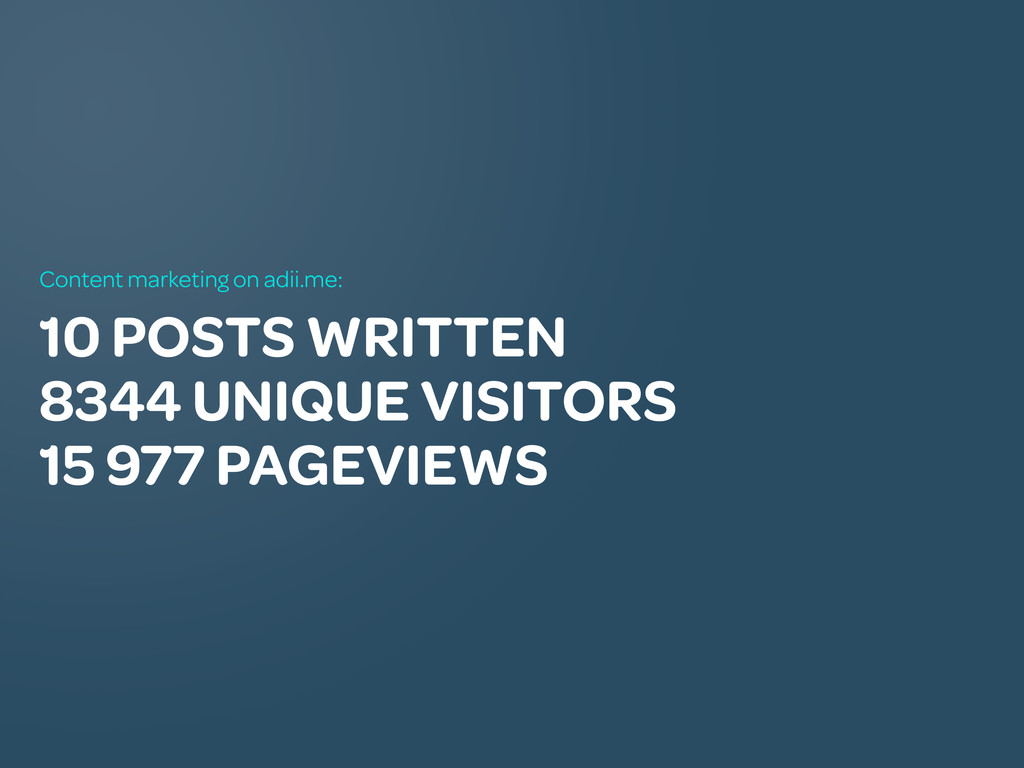 10 POSTS WRITTEN 8344 UNIQUE VISITORS 15 977 PA...