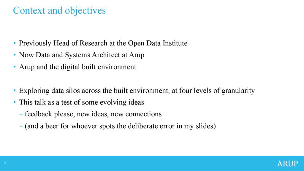 2 Context and objectives • Previously Head of ...