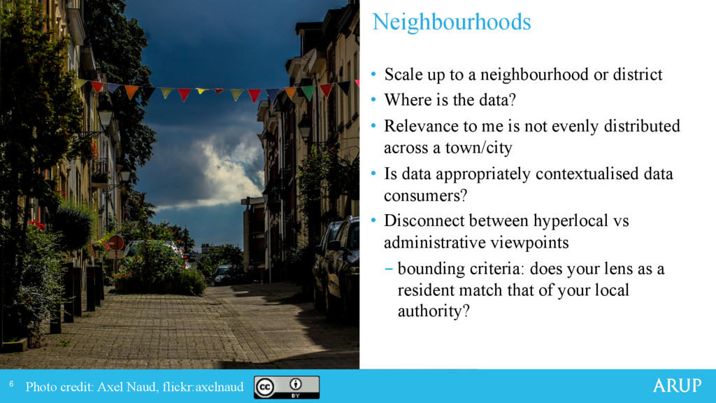 6 • Scale up to a neighbourhood or district •...