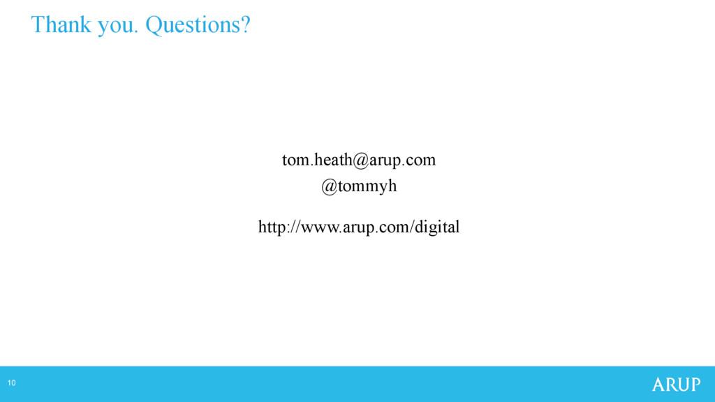 10 tom.heath@arup.com @tommyh http://www.arup.c...