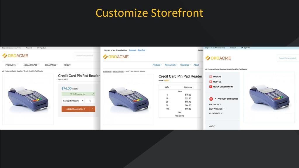 www.oroinc.com Customize Storefront