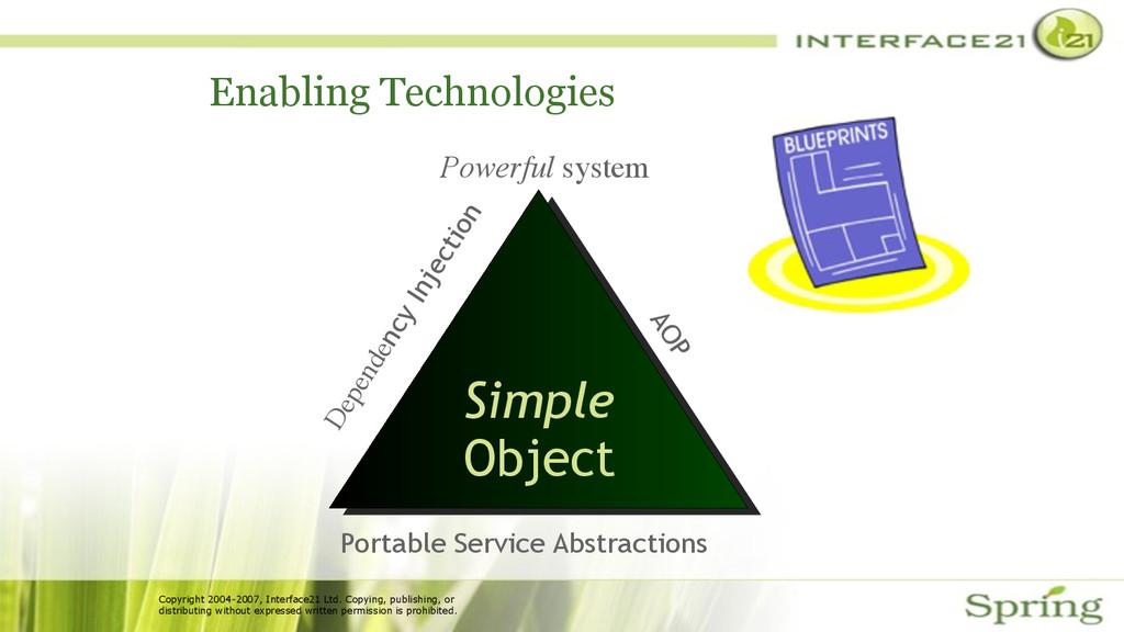 Copyright 2004-2007, Interface21 Ltd. Copying, ...