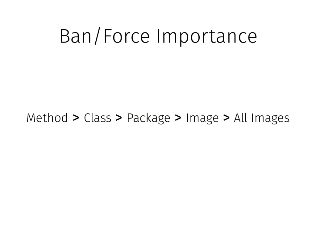 Ban/Force Importance All Images Package Package...