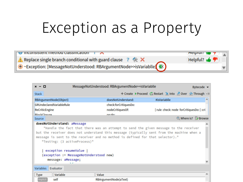 Exception as a Property