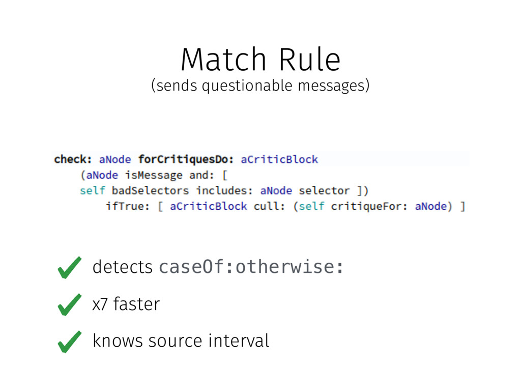 (sends questionable messages) Match Rule detect...