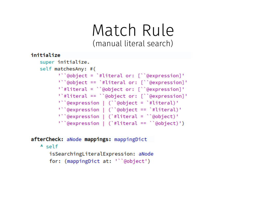 Match Rule (manual literal search)