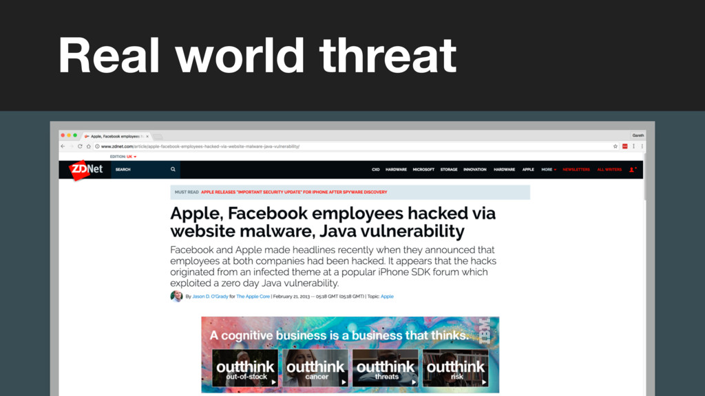 Real world threat